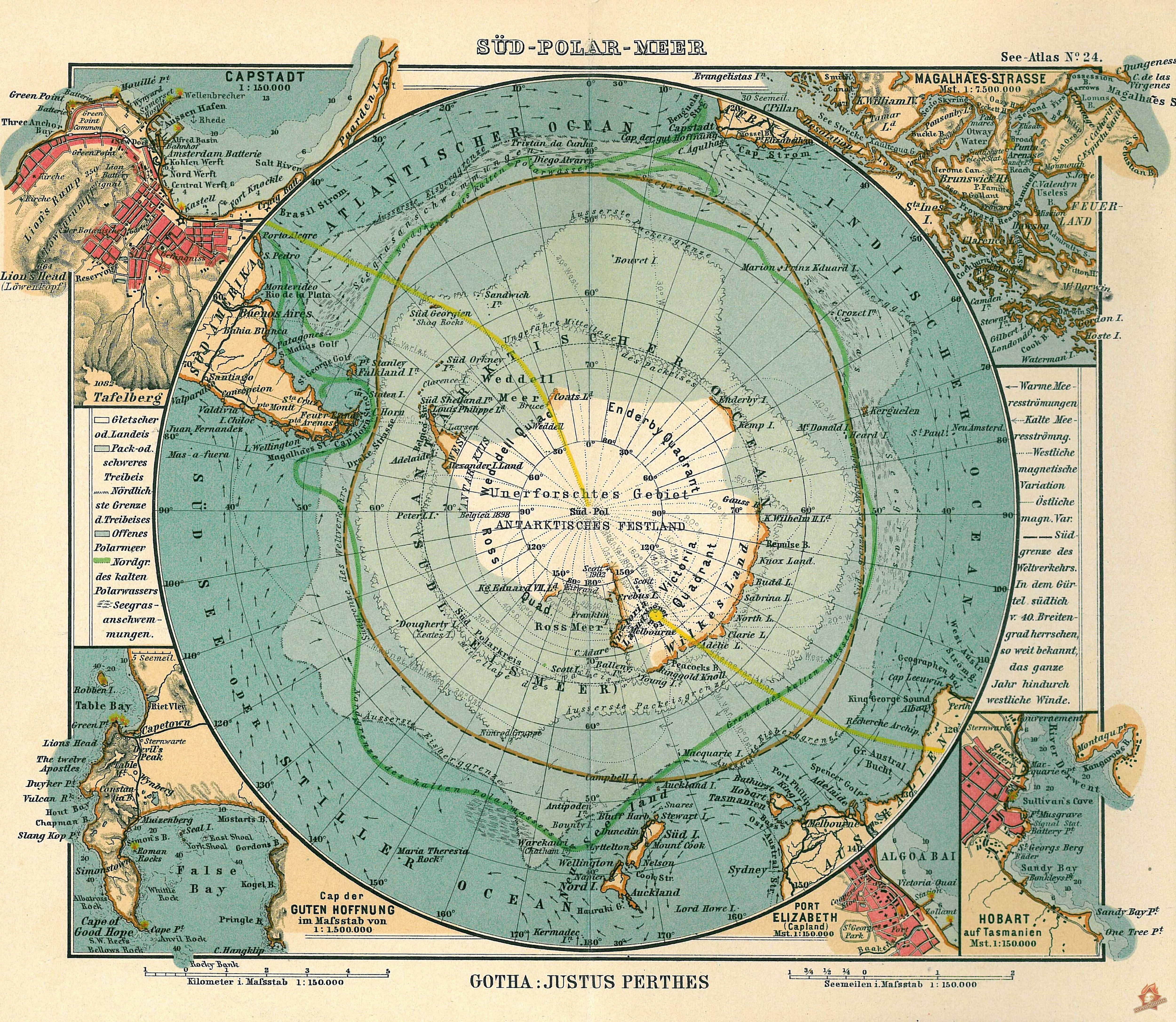 Большая карта Антарктики
