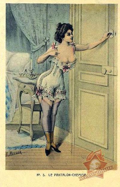 Старинные открытки с фривольным содержанием