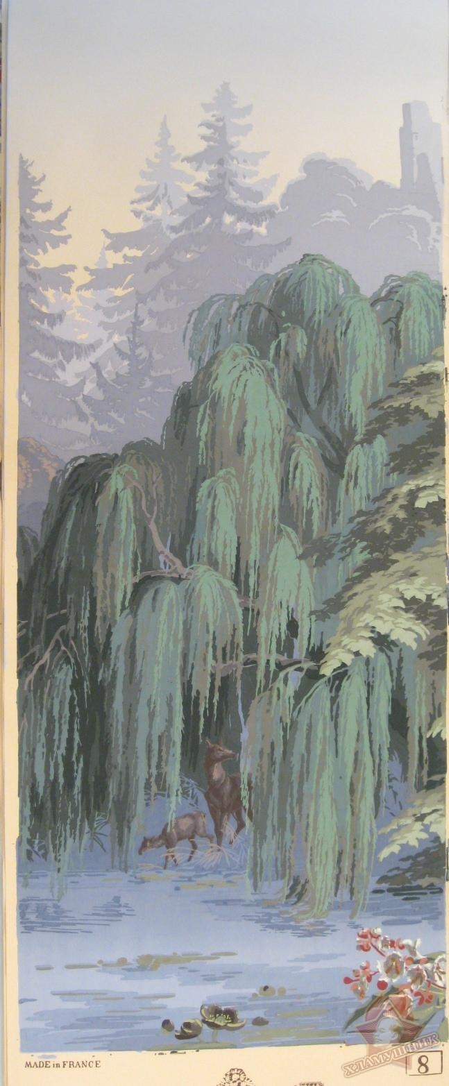 Complete Set of wallpaper, 'El Dorado', J. Fuchs for Zuber et Cie